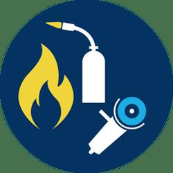 Hot work safety logo