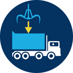 Loading and unloading safety logo