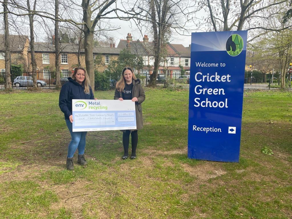 EMR Mitcham awards donation to Mitcham Town Community Trust