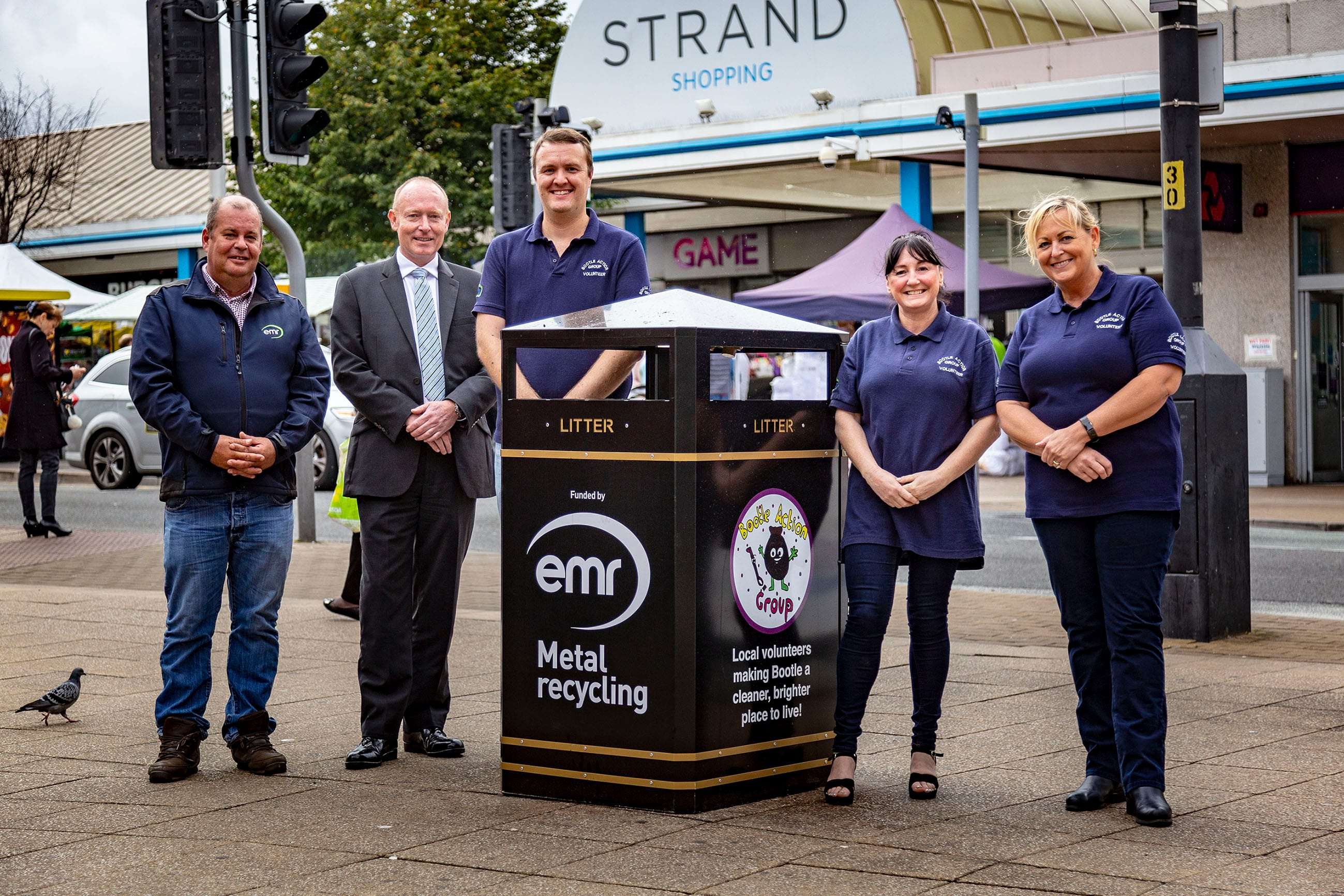 Community clean up bins in Bootle