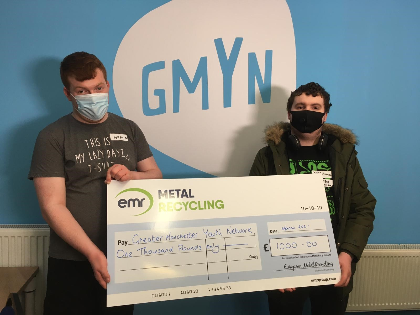 EMR Manchester awards donation to Greater Manchester Youth Network