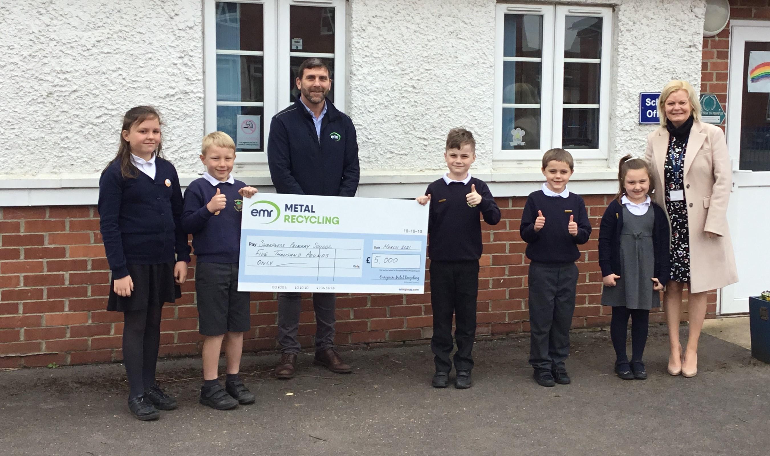 EMR Sharpness awards donation to Sharpness Primary School
