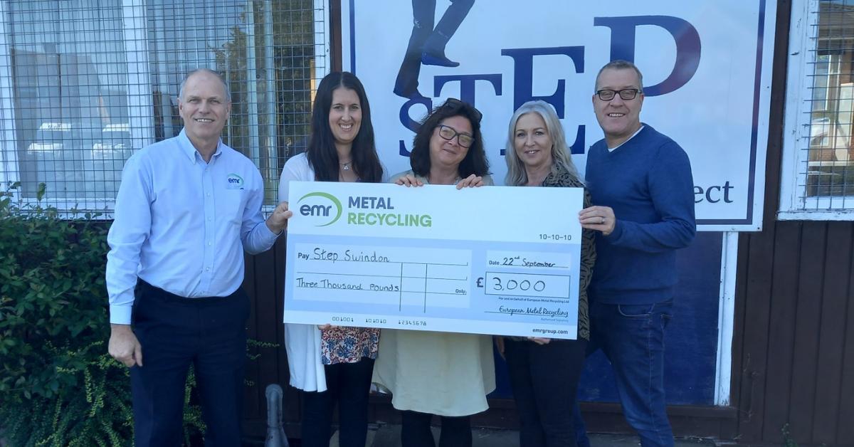 EMR Swindon awards donation to STEP Swindon