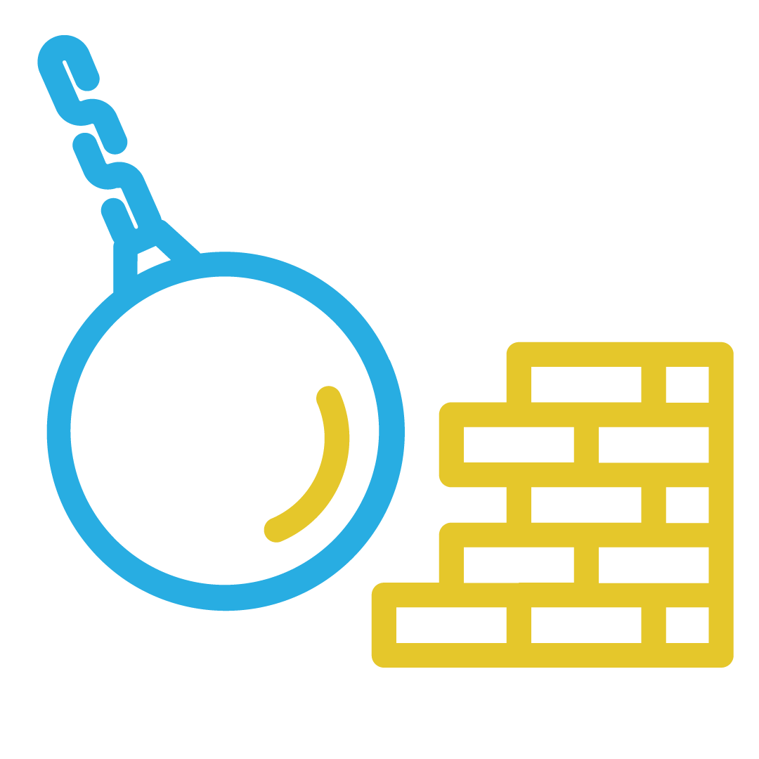 Demolition and decommissioning icon