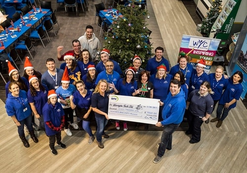 Warrington Youth Club say thank you to EMR