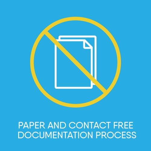 Contact free documentation process