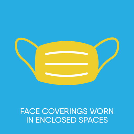 Face coverings in enclosed spaces