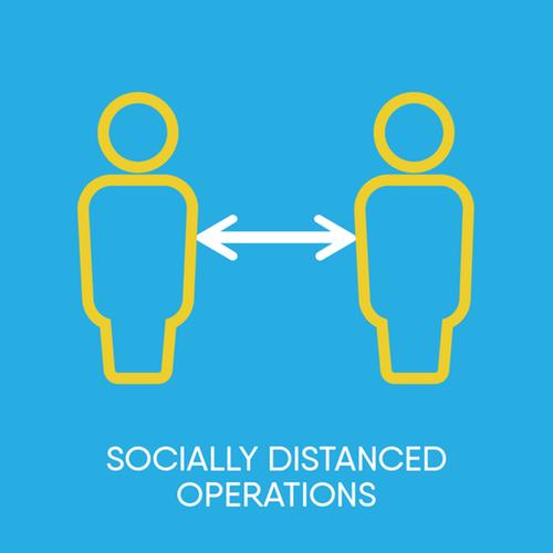 Socially distanced icon