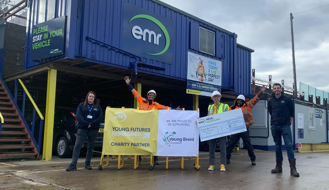EMR Neasden awards donation to the Young Brent Foundation