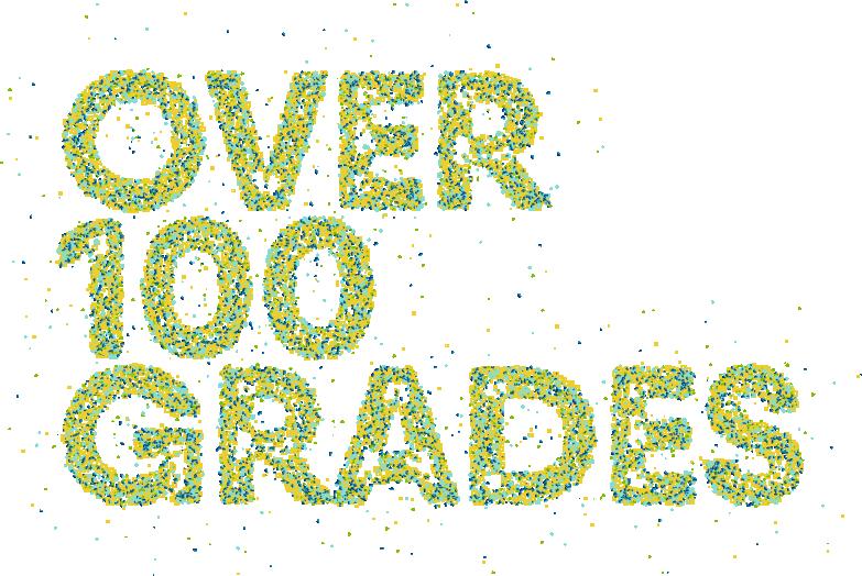 Over 100 grades