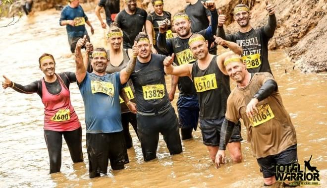 EMR team take part in Total Warrior to raise money