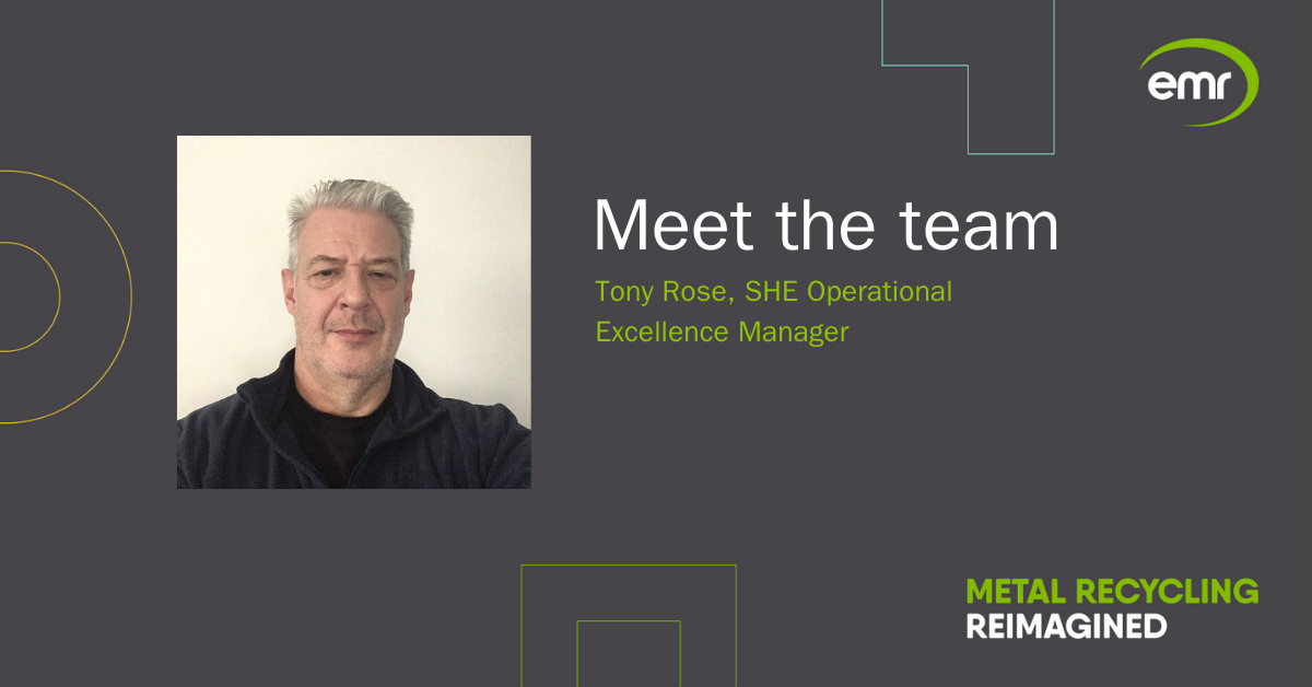 Tony Rose, SHE Operational Excellence Manager