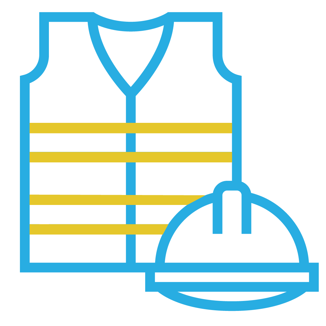 Safety health environment and quality icon