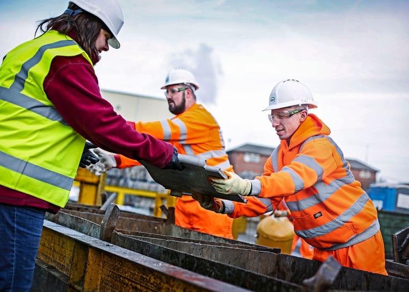 EMR colleagues working on scrap metal site